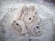 クララとトーマスのサンドアート