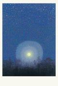 満月と満点の星空
