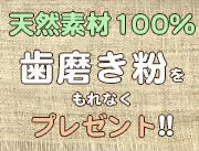 5万円以上のお買い上げで天然素材100%歯磨き粉をもれなくプレゼント!!